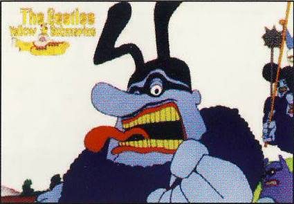 BEATLES: Postkarte YELLOW SUBMARINE BLUEMEANIE