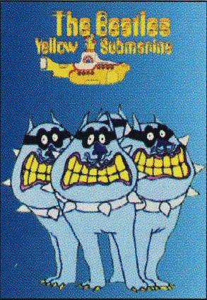 BEATLES: Postkarte YELLOW SUBMARINE HEY BULLDOG