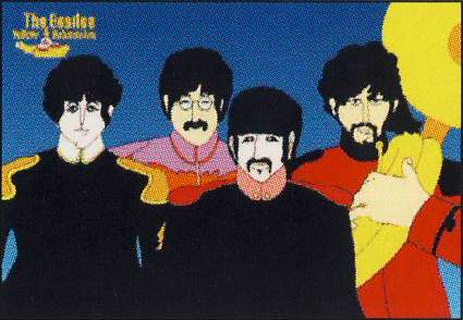 BEATLES: Postkarte YELLOW SUBMARINE SGT PEPPER BAND B