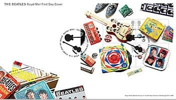 BEATLES: Ersttagsbrief BEATLES MINIATURE FIRST DAY COVER
