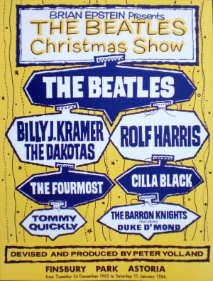 BEATLES: Plakat (Nachdruck) CHRISTMAS SHOW 1963
