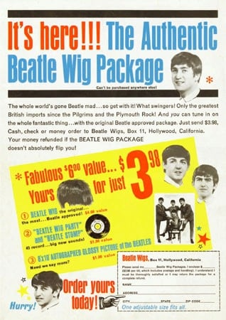 BEATLES: THE AUTHENTIC BEATLES WIG PACKAGE
