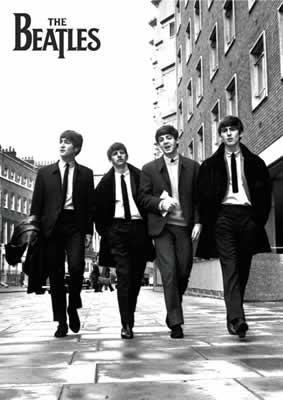 BEATLES: POSTER THE BEATLES IN LONDON