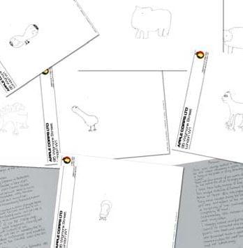 JOHN LENNON: Zeichenmappe LENNON CARTOONS