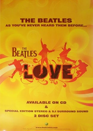 BEATLES: Promo-Poster LOVE 2006