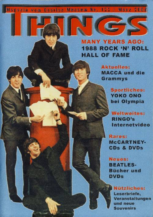 BEATLES: Fan-Magazin THINGS 122
