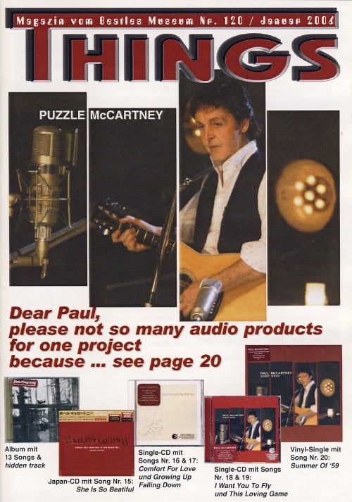 BEATLES: Fan-Magazin THINGS 120