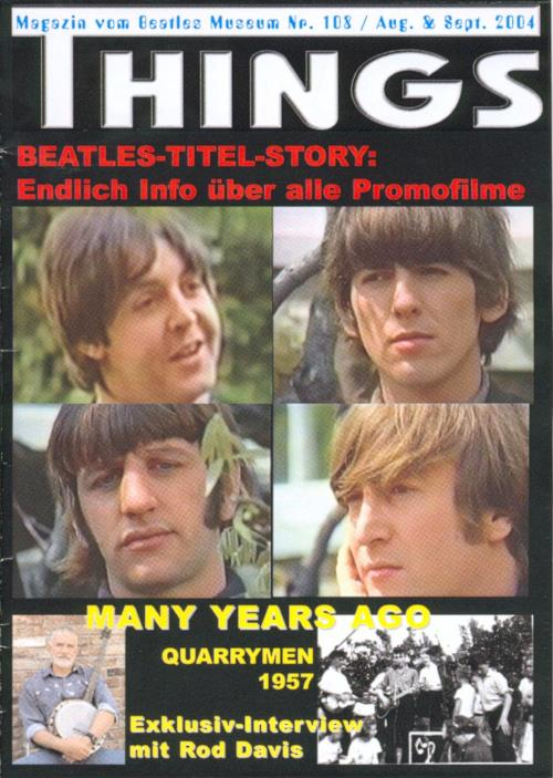 BEATLES: Fan-Magazin THINGS 108