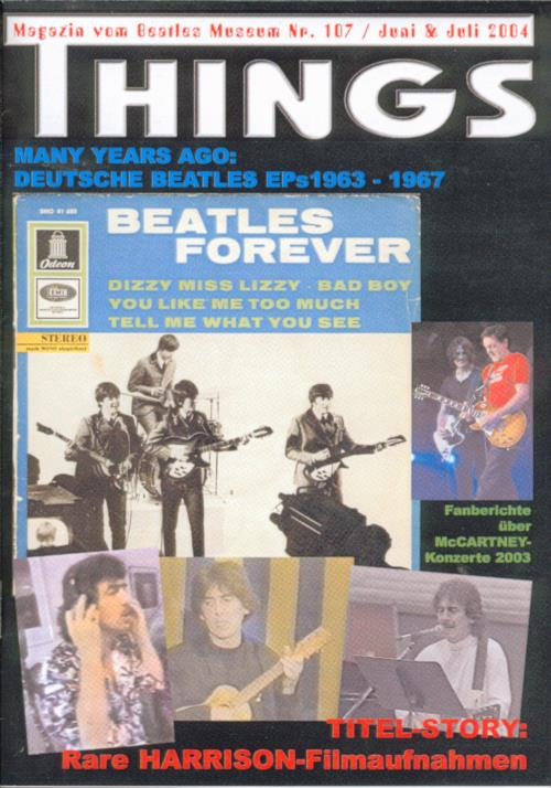 BEATLES: Fan-Magazin THINGS 107
