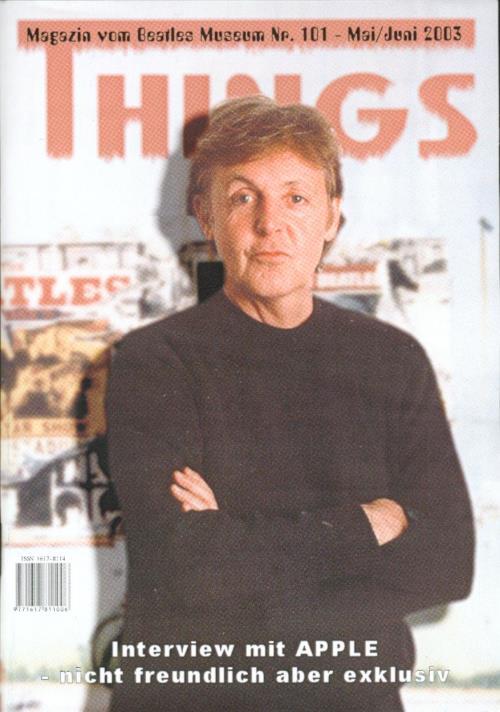 BEATLES: Fan-Magazin THINGS 101