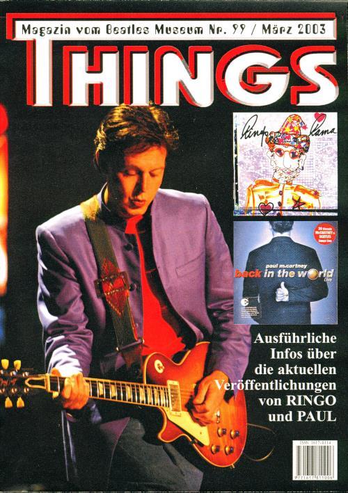 BEATLES: Fan-Magazin THINGS 99
