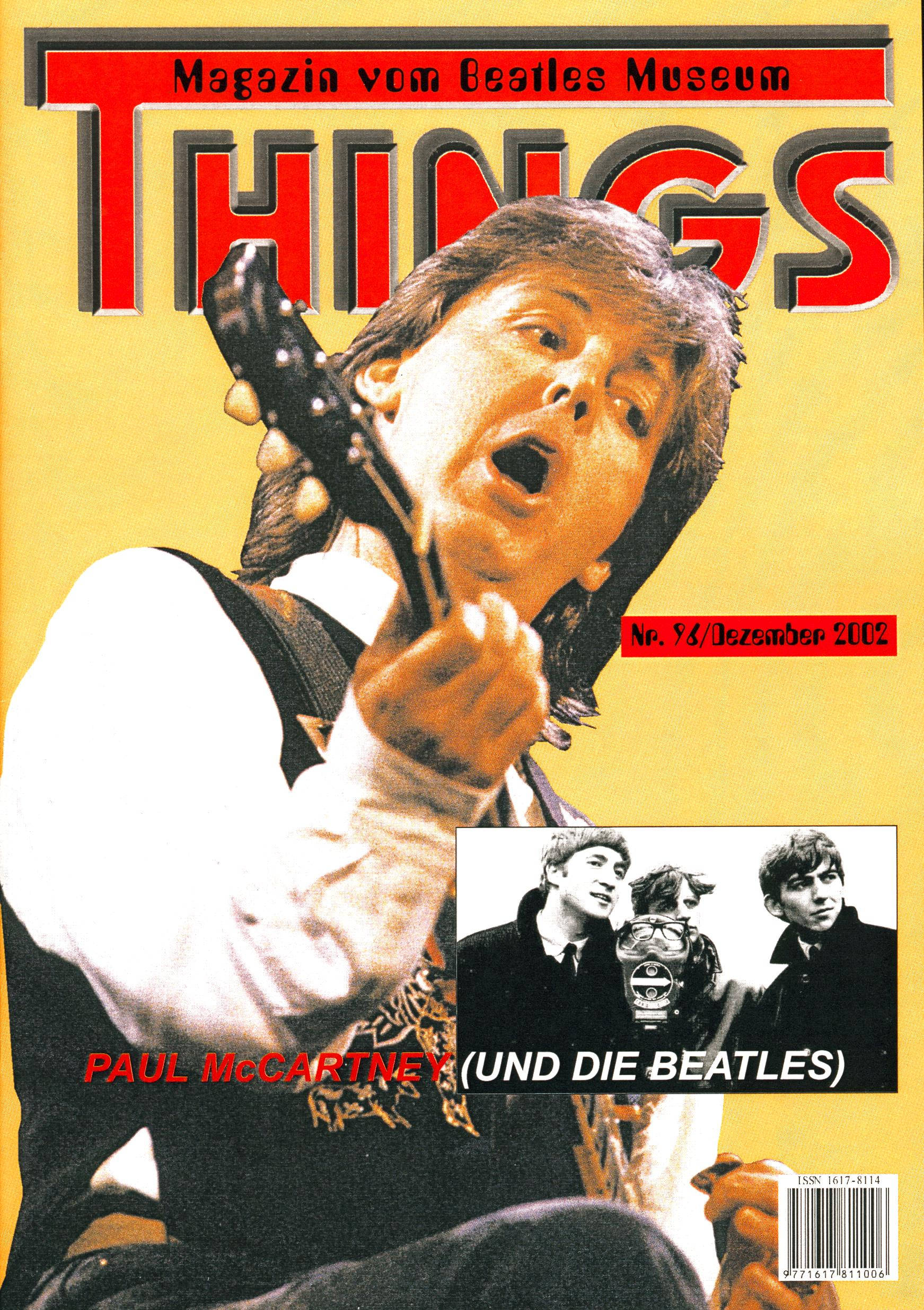 BEATLES: Fan-Magazin THINGS 96