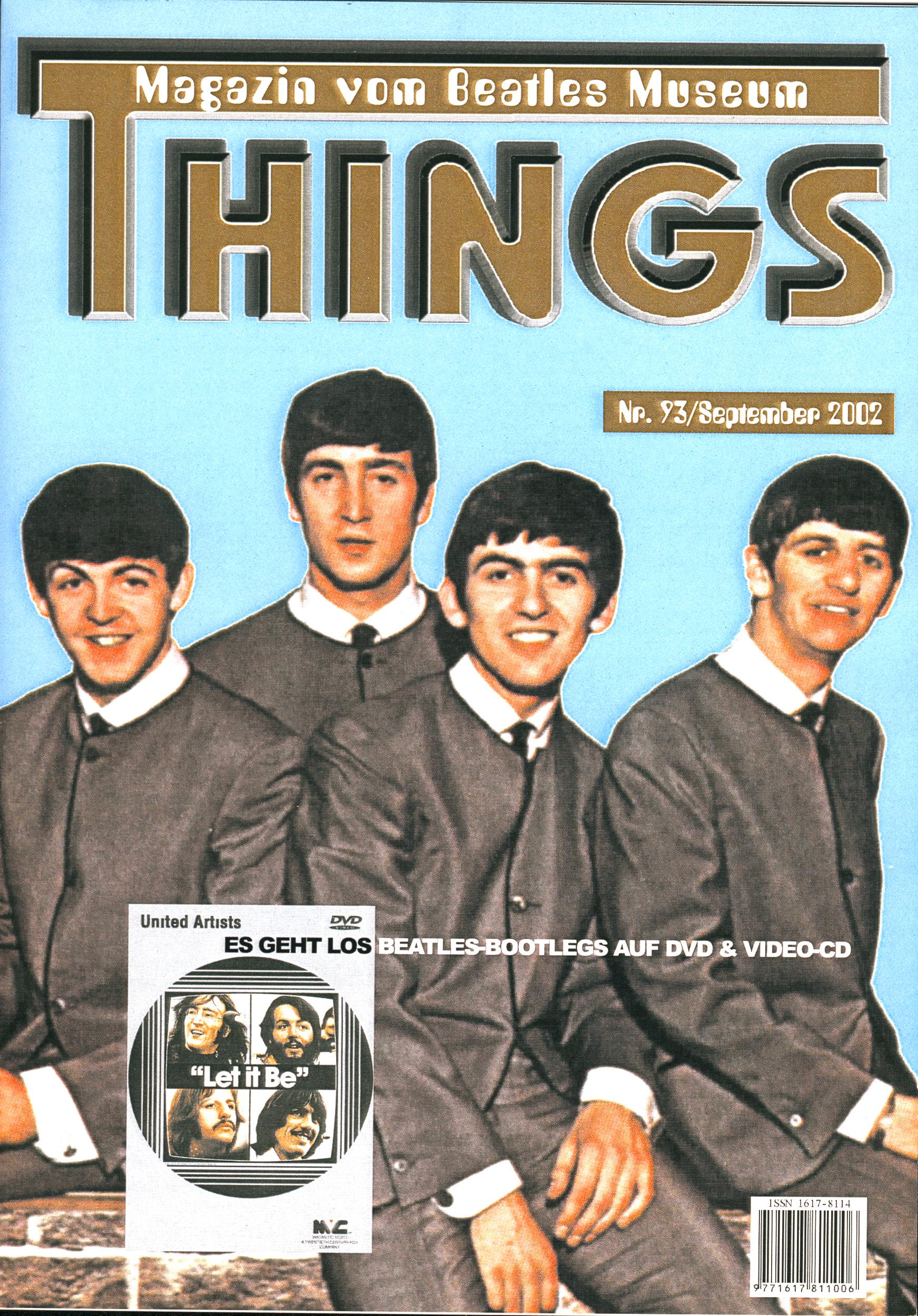 BEATLES: Fan-Magazin THINGS 93