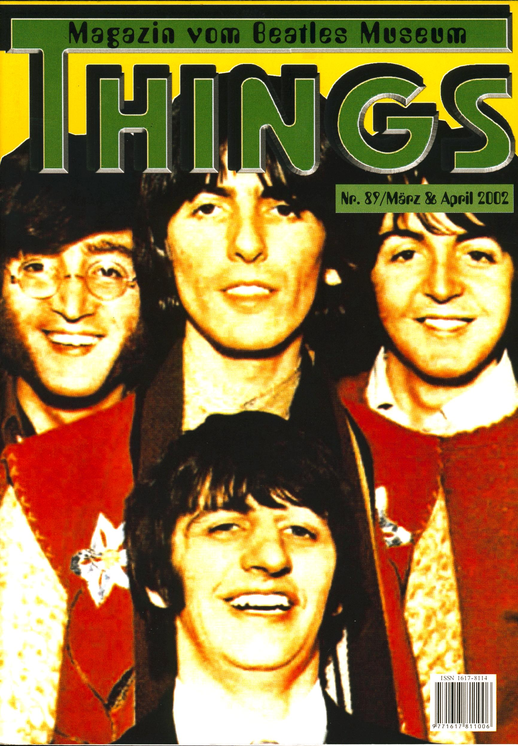 BEATLES: Fan-Magazin THINGS 89
