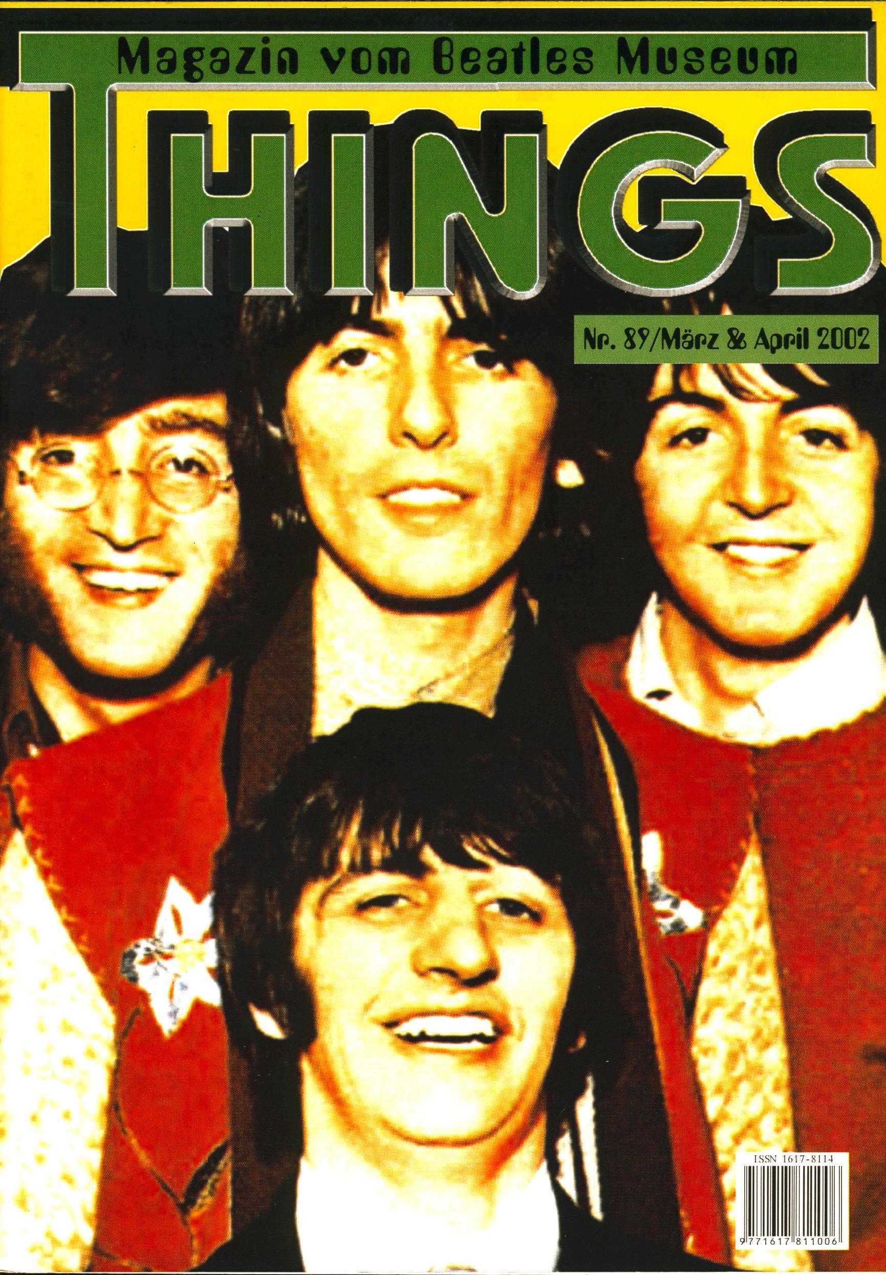 BEATLES: Fan-Magazin THINGS 89