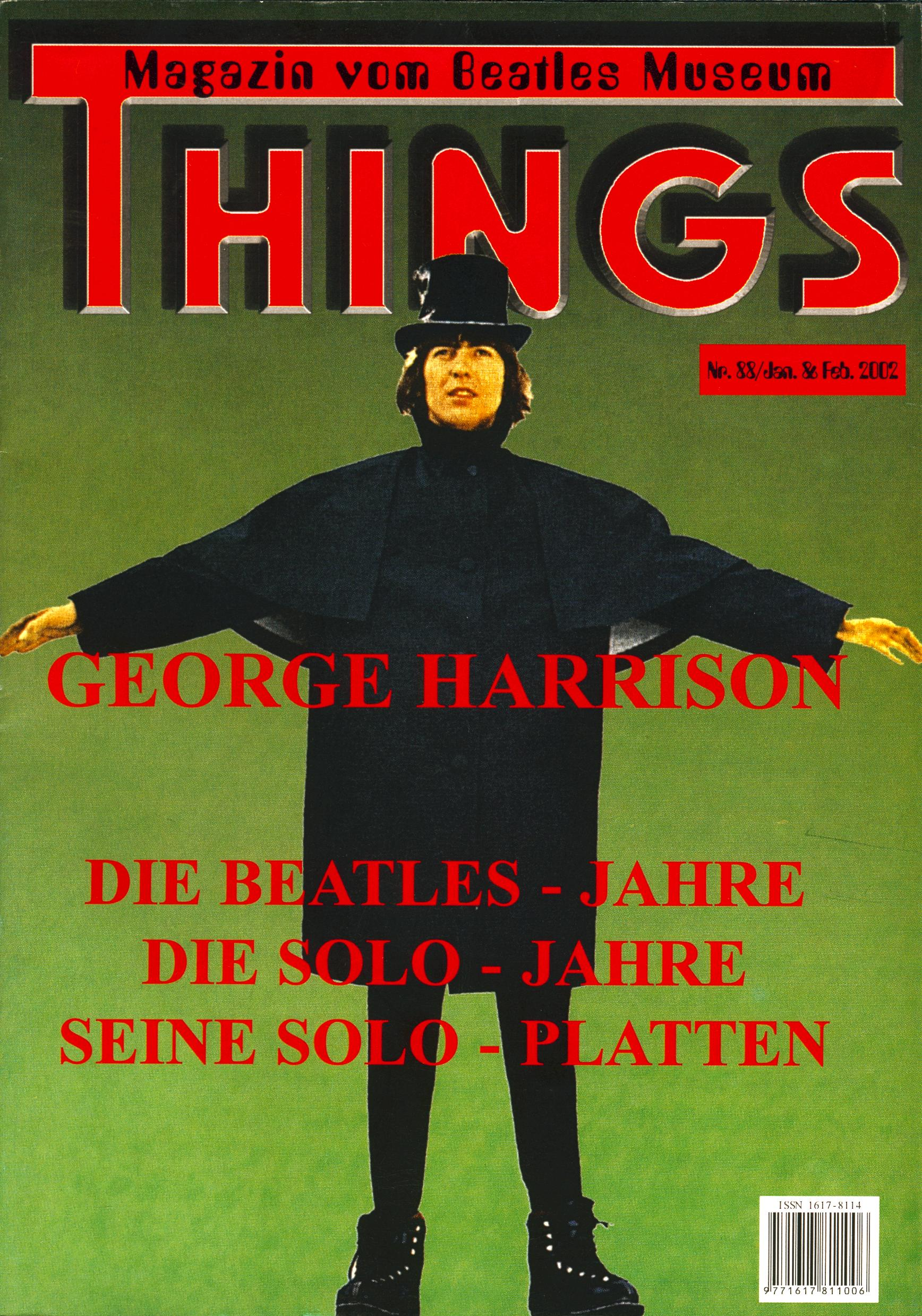 BEATLES: Fan-Magazin THINGS 88
