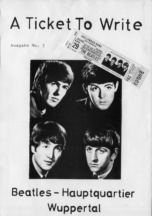 BEATLES: Fan-Magazin A TICKET TO WRITE 3