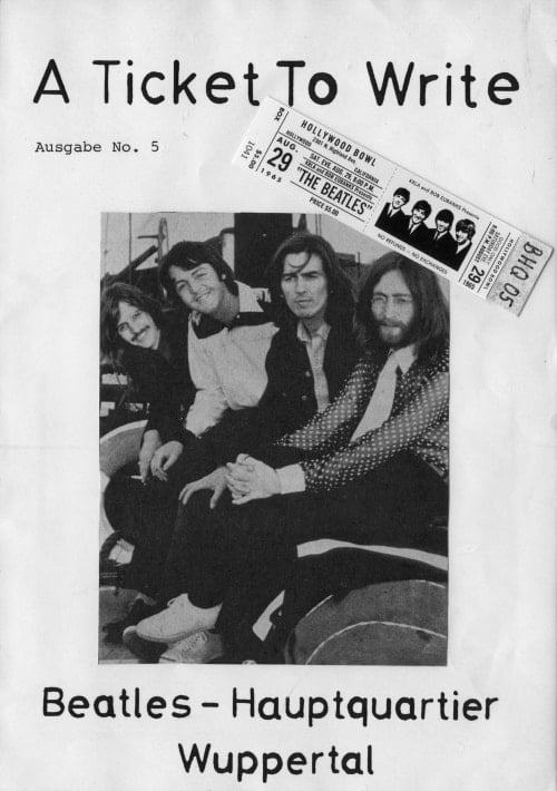 BEATLES: Fan-Magazin A TICKET TO WRITE 5