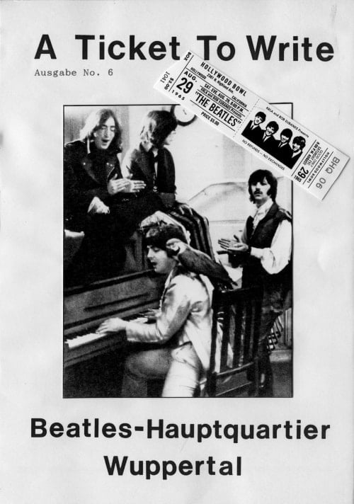 BEATLES: Fan-Magazin A TICKET TO WRITE 6