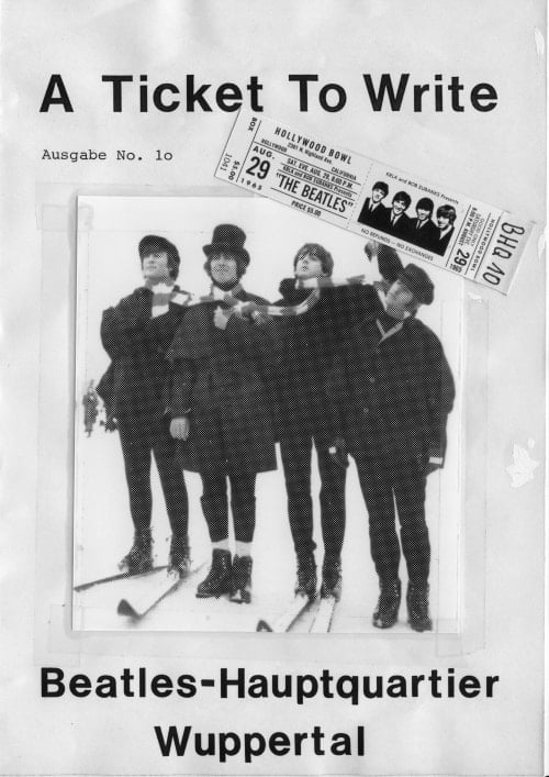 BEATLES: Fan-Magazin A TICKET TO WRITE 10