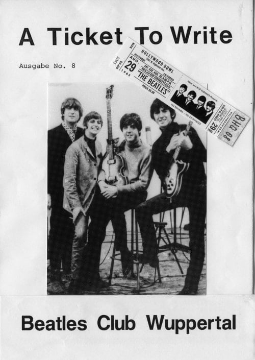 BEATLES: Fan-Magazin A TICKET TO WRITE 8
