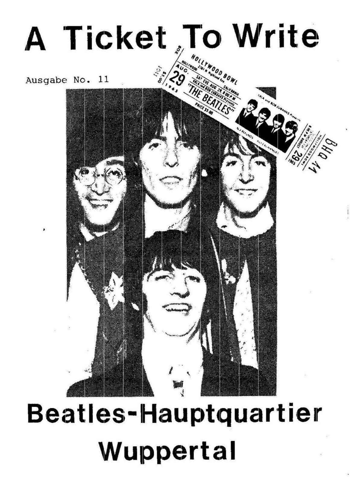 BEATLES: Fan-Magazin A TICKET TO WRITE 11
