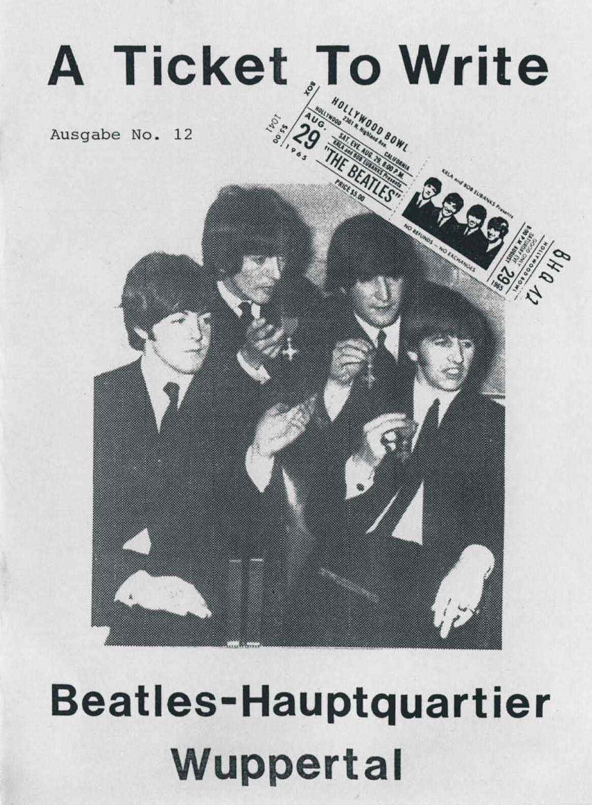 BEATLES: Fan-Magazin A TICKET TO WRITE 12