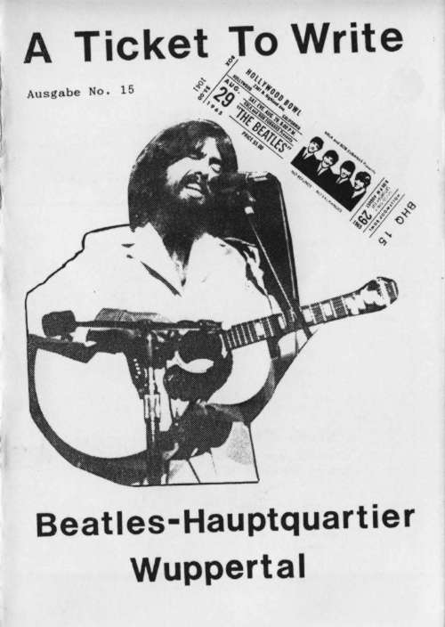 BEATLES: Fan-Magazin A TICKET TO WRITE 15