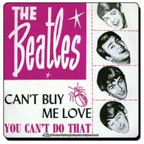 Beatles Untersetzer CAN'T BUY ME LOVE SINGLE COVER USA