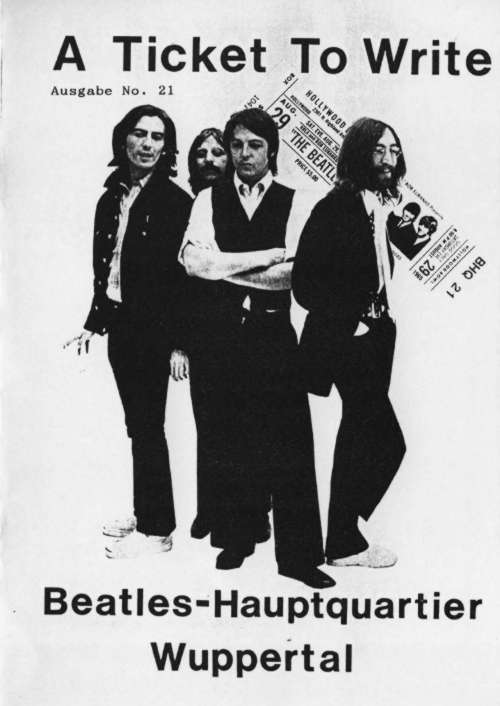BEATLES: Fan-Magazin A TICKET TO WRITE 21