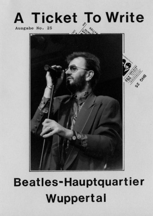 BEATLES: Fan-Magazin A TICKET TO WRITE 25