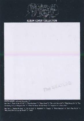 Postkarte Album Cover THE BEATLES (WHITE ALBUM)