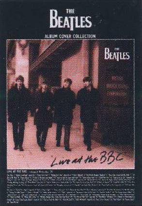 Postkarte Album Cover THE BEATLES LIVE AT THE BBC