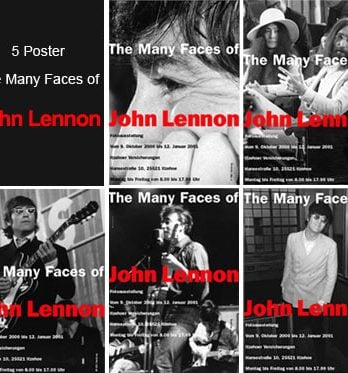 5-Austellungs-Poster-Set THE MANY FACES OF JOHN LENNON