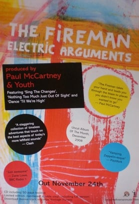 Promotion-Poster Paul McCartney THE FIREMAN