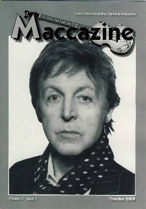 Magazin MACCAZINE - PAUL McCARTNEY TIMELINE 2008