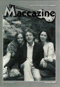 Magazin MACCAZINE - PAUL McCARTNEY TIMELINE 2009