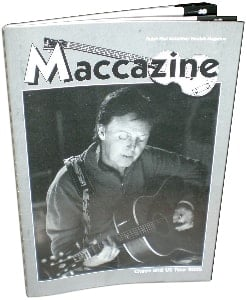 McCARTNEY: Fan-Magazin CHAOS AND US TOUR 2005