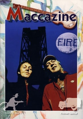 McCARTNEY: Fan-Magazin FIREMAN SPECIAL