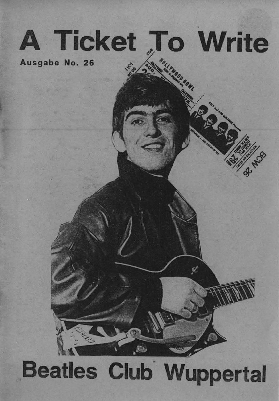 BEATLES: Fan-Magazin A TICKET TO WRITE 26