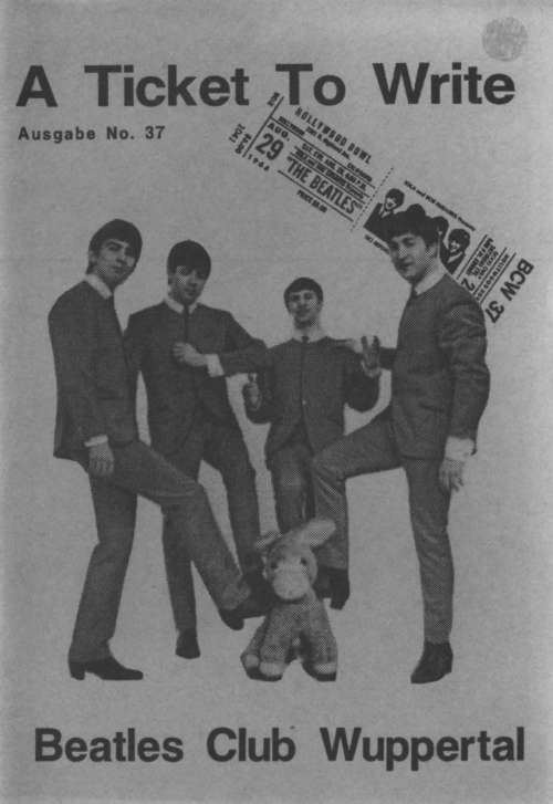 BEATLES: Fan-Magazin A TICKET TO WRITE 37