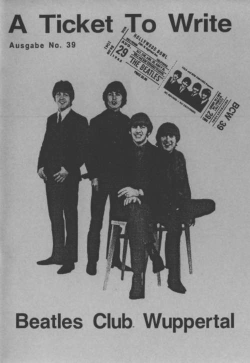 BEATLES: Fan-Magazin A TICKET TO WRITE 39