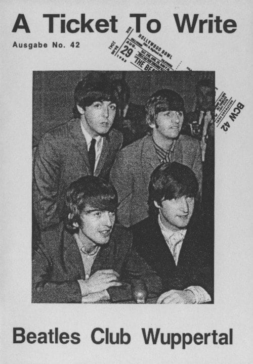 BEATLES: Fan-Magazin A TICKET TO WRITE 42