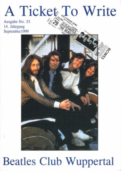 BEATLES: Fan-Magazin A TICKET TO WRITE 53