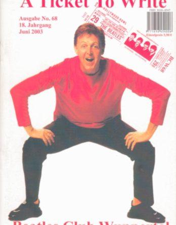 BEATLES: Fan-Magazin A TICKET TO WRITE 68