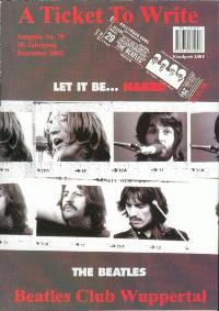 BEATLES: Fan-Magazin A TICKET TO WRITE 70