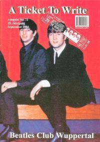 BEATLES: Fan-Magazin A TICKET TO WRITE 73