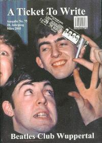 BEATLES: Fan-Magazin A TICKET TO WRITE 75