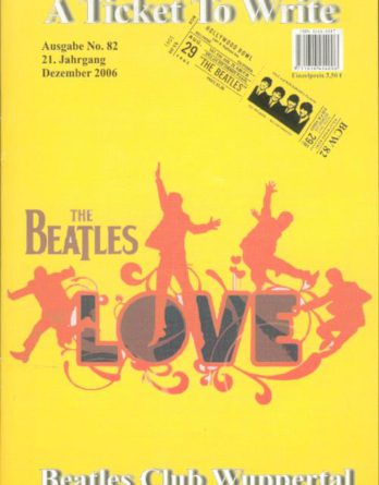BEATLES: Fan-Magazin A TICKET TO WRITE 82