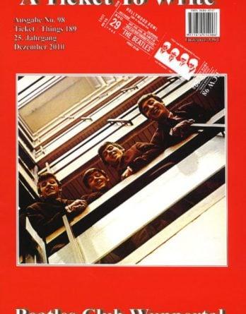 BEATLES: Fan-Magazin A TICKET TO WRITE 98